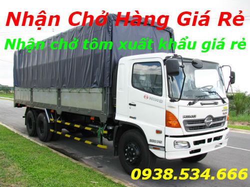 Nhận chở tôm xuất khẩu giá rẻ